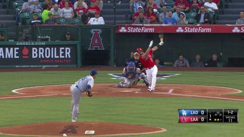 LAD@LAA: Ryu strikes out Pujols to end the inning